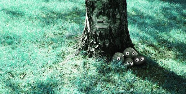 kiviperhe piilossa